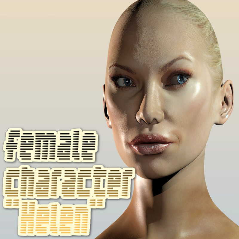 3d female character helen model