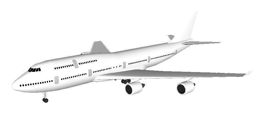 airplane 3d fbx