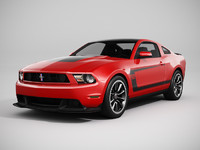 Ford Mustang Boss 302 2012 (LowPoly)