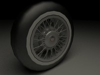 wire wheel cadillac deville obj