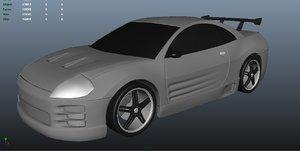 racing eclipse 3d model