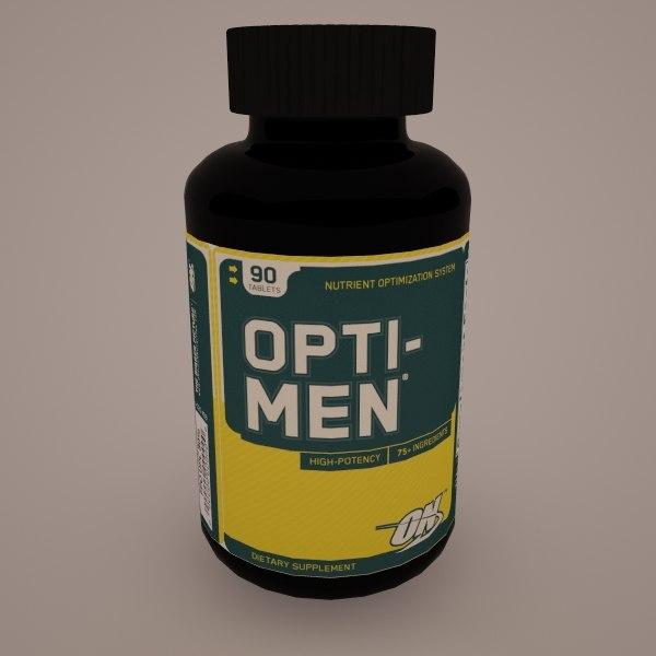 3d model opti-men optimum nutrition
