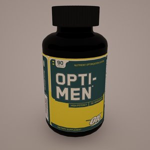 3d model opti-men optimum nutrition