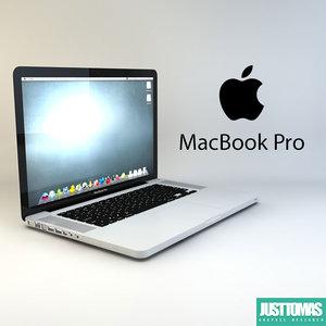 macbook pro 3d model