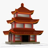 Cartoon Chinese House 1