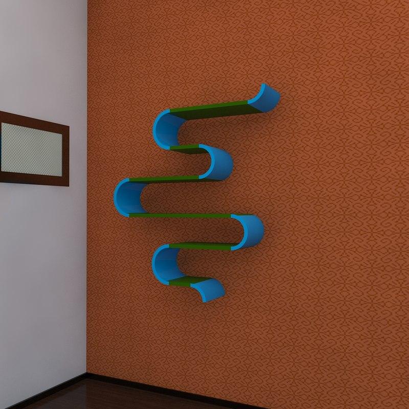 11 bookshelf 2011 3d 3ds