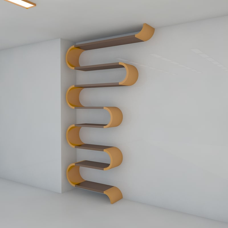 8 bookshelf 2011 3d model