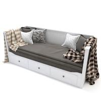 3d model bed sofa