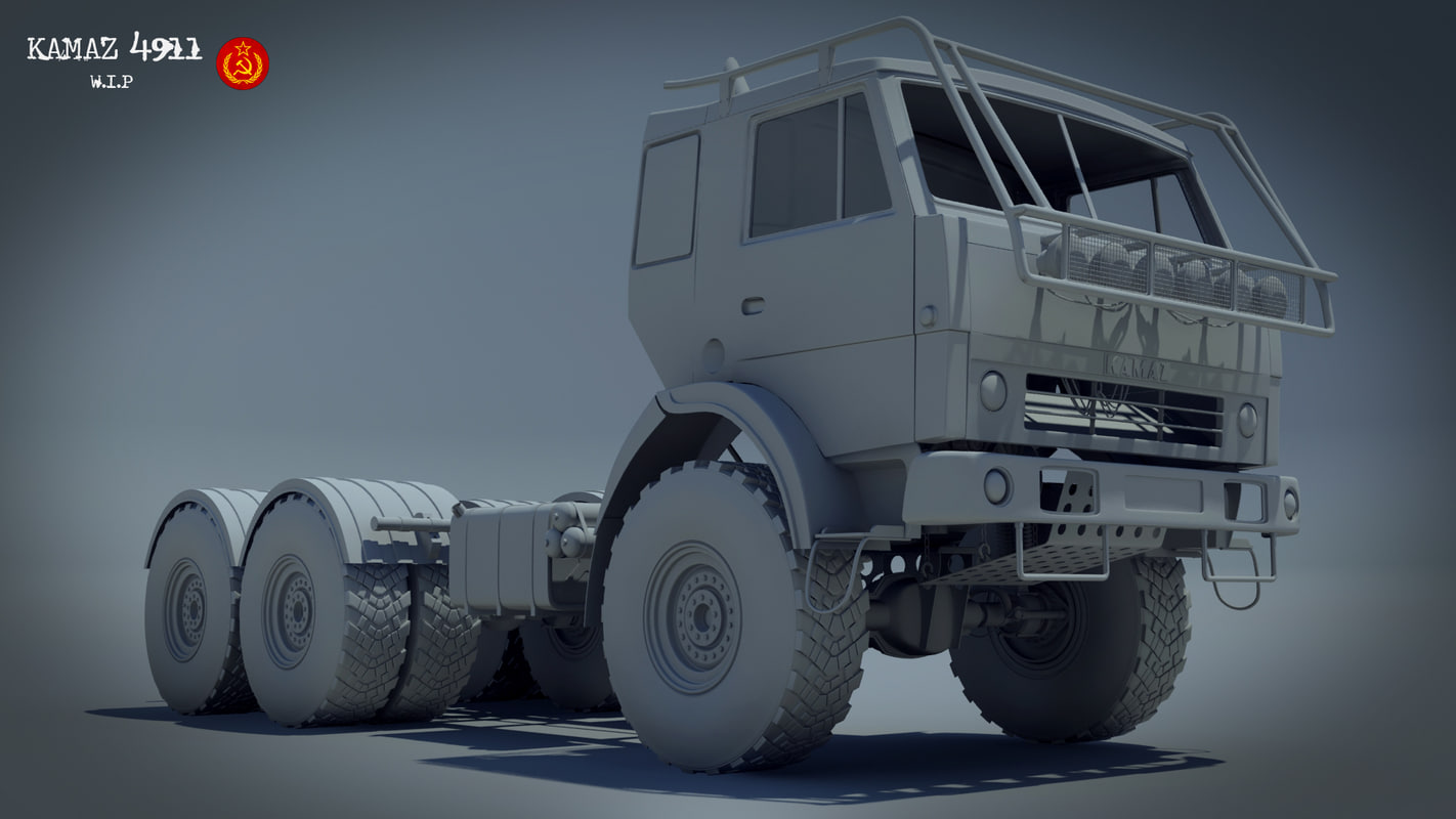 kamaz details 3d model