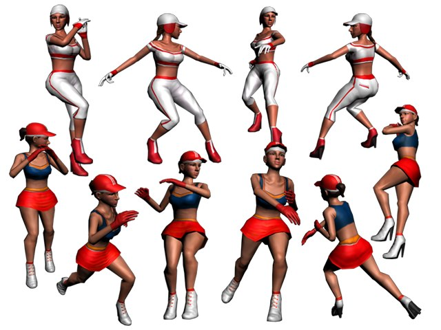 sport girl animation 3d max