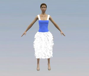 free clothes character 3d model