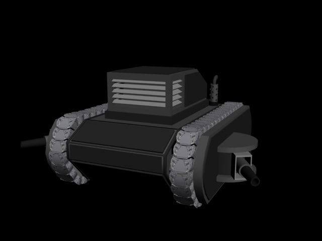 armoured track layer 3d model