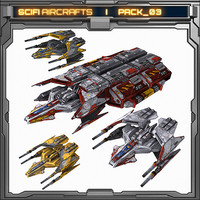 SciFi Aircraft _ Pack 03