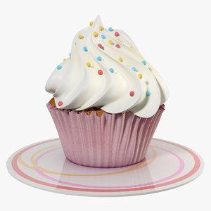 3d model small cake cream