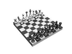 chess table 3d model