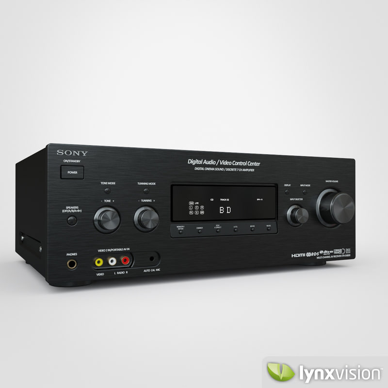 3ds max sony av receiver