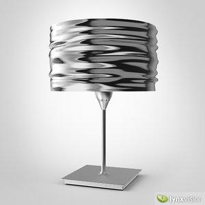 3d max aqua cil tavolo table lamp