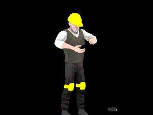 3d fbx male engineer