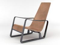 fauteuil cite jean prouve 3d model