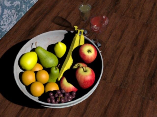 free fruit bowl 3d model