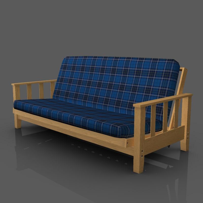 futon sofa 3ds
