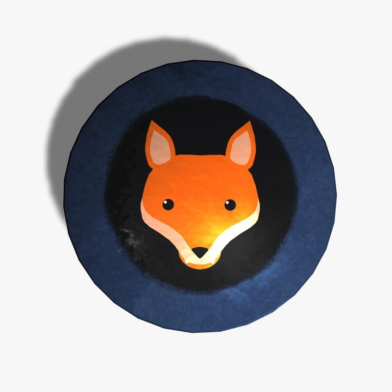 tin cat fox 3d model