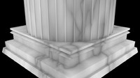 pillar interior design 3d 3ds