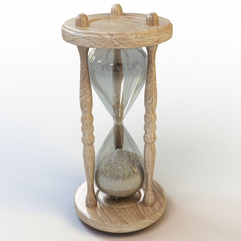 hourglass hour glass 3d model