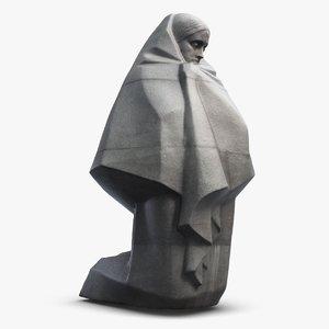 monument kiev sculpture 3d max