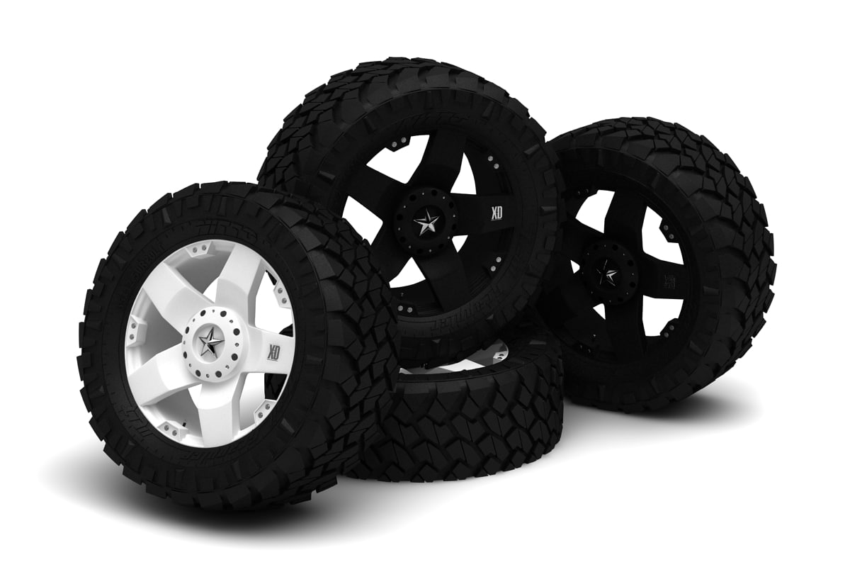 3d model of rockstar wheel