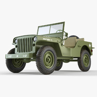 jeep willys 3d model