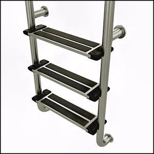 ladder steps swimming pool 3d obj