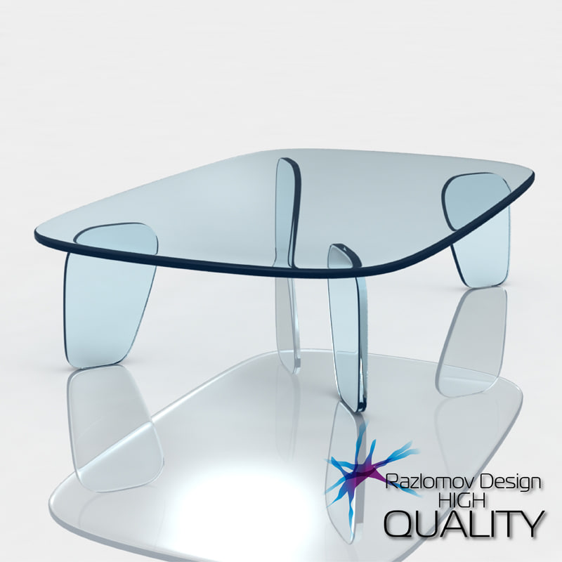 table drawn glas italia 3d model