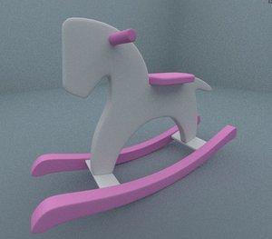 3d rocking horse