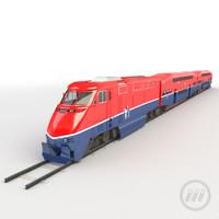 t train passenger 3d model
