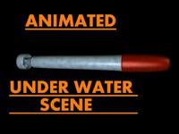 torpedo water scene 3d c4d