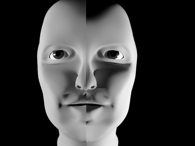 3ds max woman face
