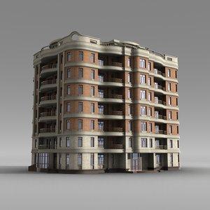 3d house residence model