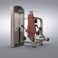 triceps press machine 3d model