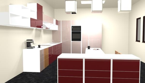 kitchen 3d rvt