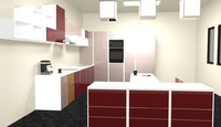 kitchen 3d rvt