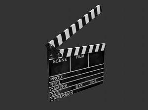 3d model film clapboard