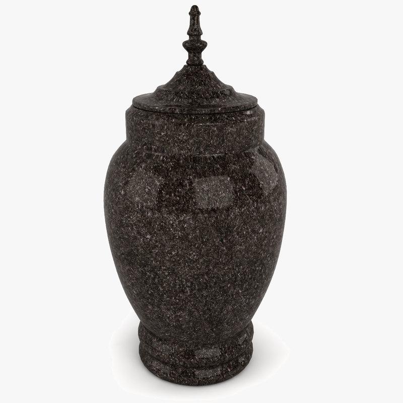 cremation urn 3d 3ds