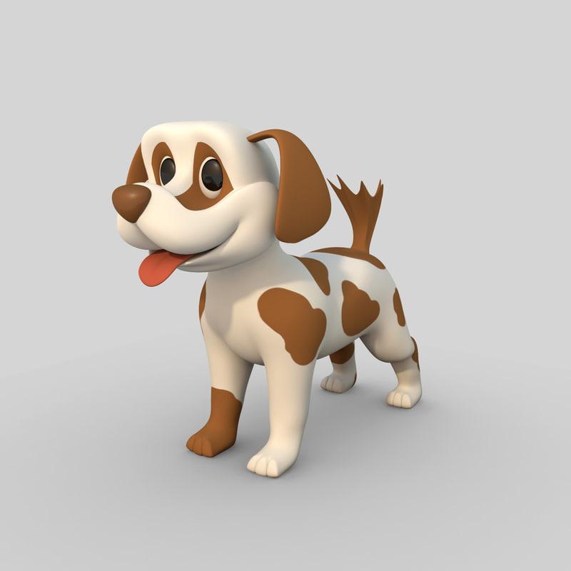 max cartoon comic dog rigged