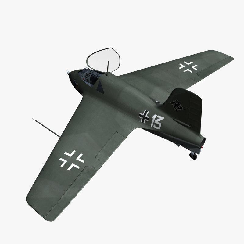 3ds max messerschmitt 163 komet fighter