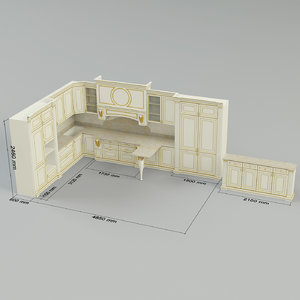 3d model kitchen bordignon camillo