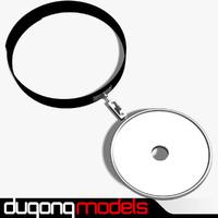 3d dugm04 head mirror model