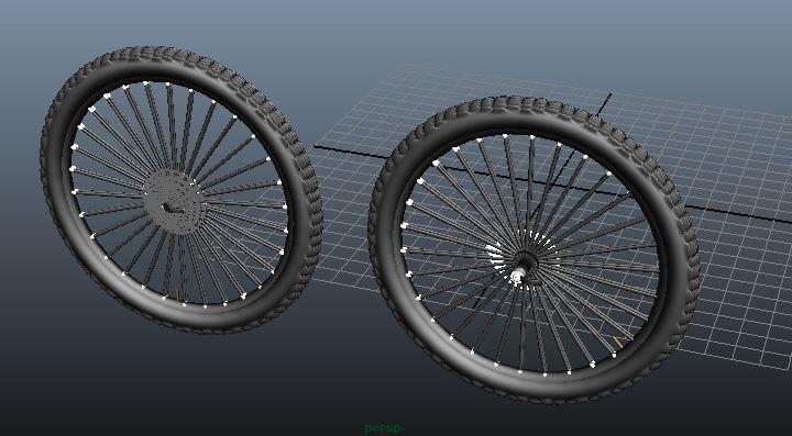 mountain bike wheels 3d fbx