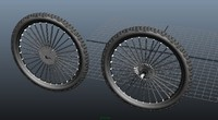 mountain bike wheels 3d fbx
