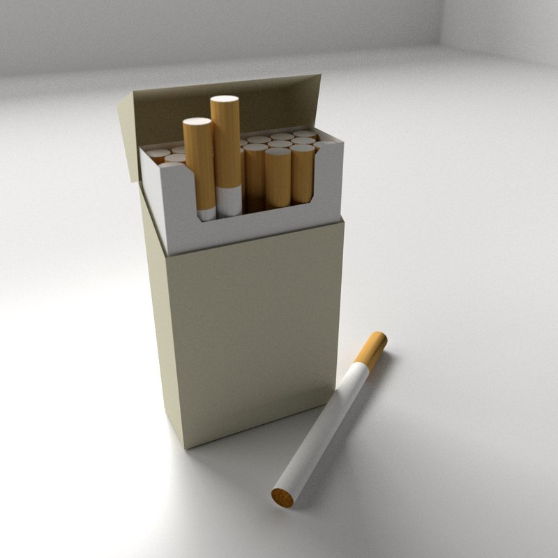 3d model cigarettes box